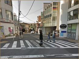代官山駅前入口交差点のイメージ